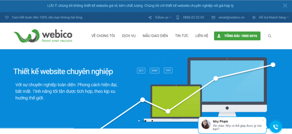 Công ty thiết kế website webico chuyên nghiệp
