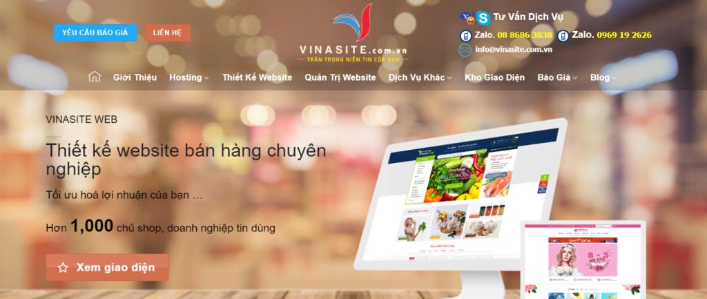 Công ty thiết kế web vinasite