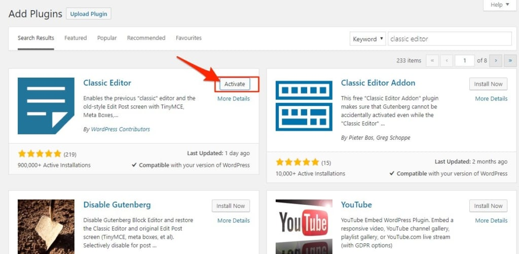 Active plugin cho website wordpress