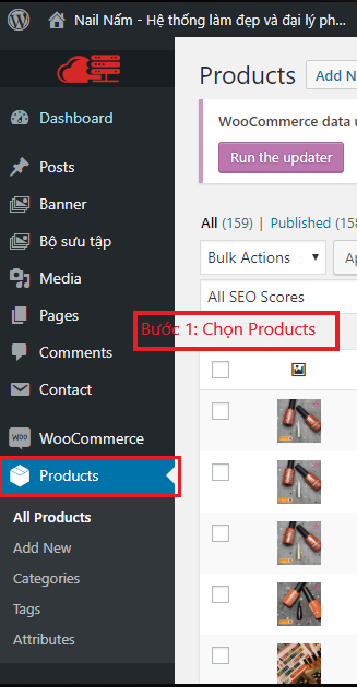 Chọn products