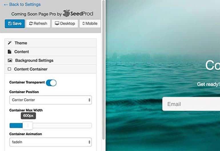 danh sách các themes tuyệt đẹp được dùng để áp dụng cho trang Coming Soon hoặc trang Maintenance