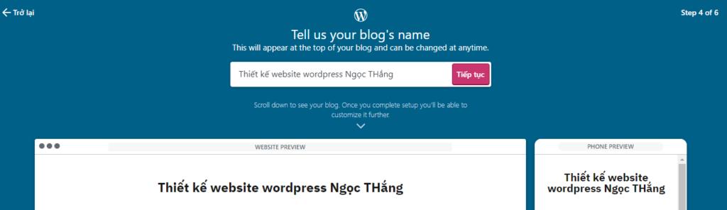 Tiêu đề blog website wordpress