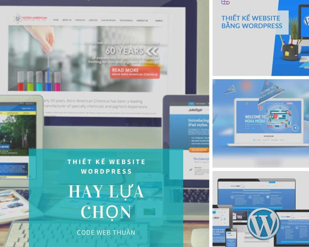Lựa chọn thiết kế web wordpress