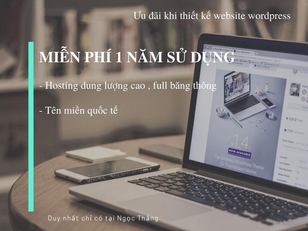 Ưu đãi khi thiết kế web wordpress