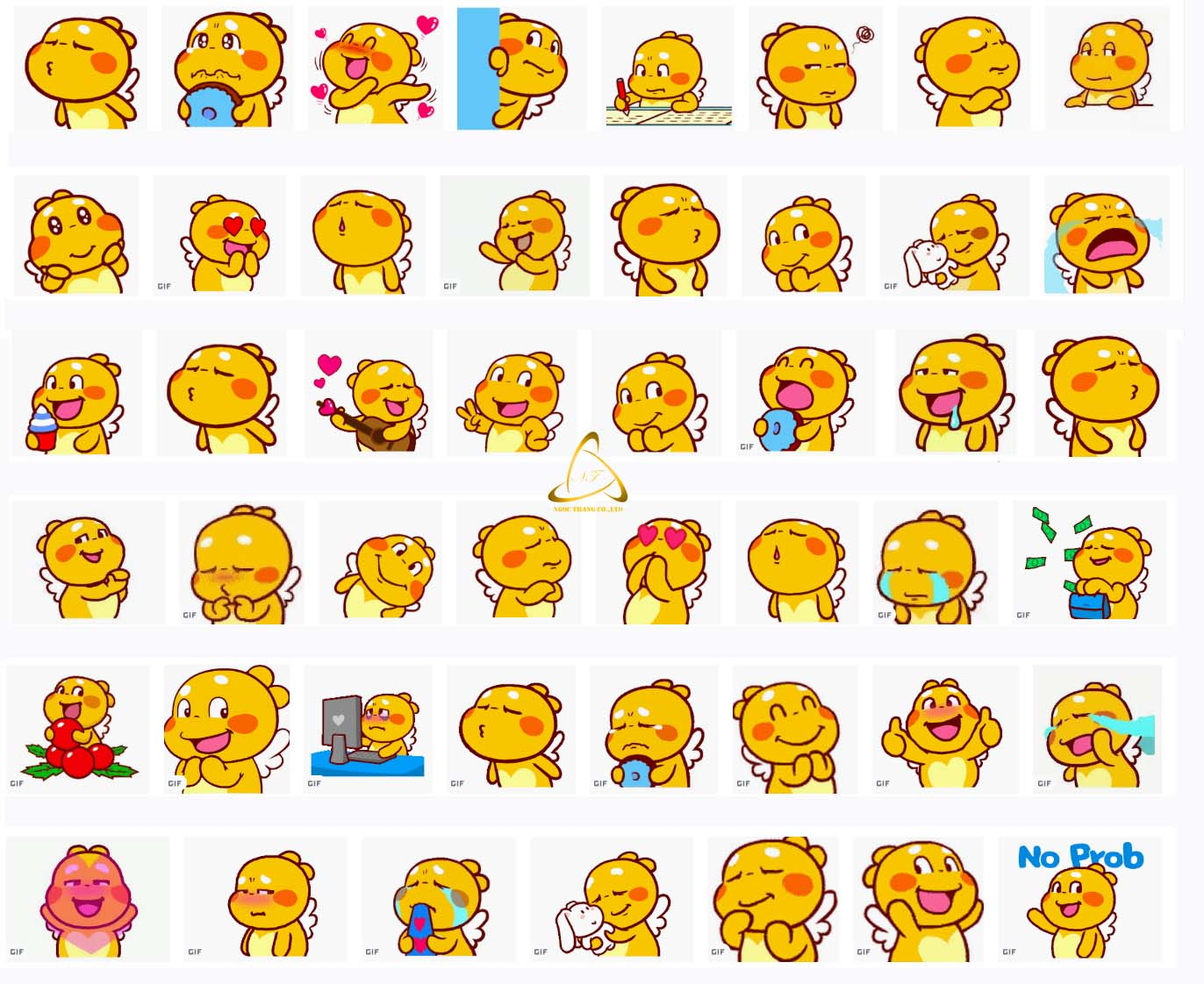Sticker Facebook Gấu vàng cute
