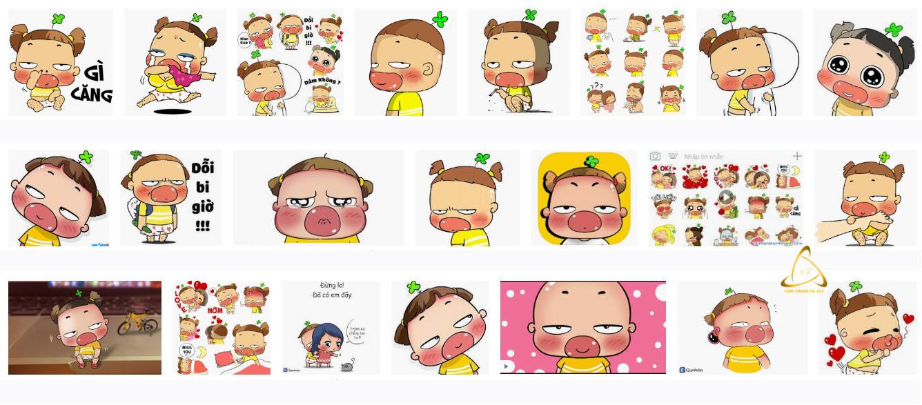 Sticker Facebook Quỳnh Aka