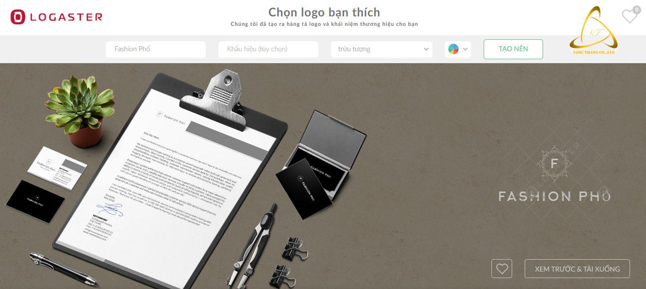 Website thiết kế logo online chuyên nghiệp