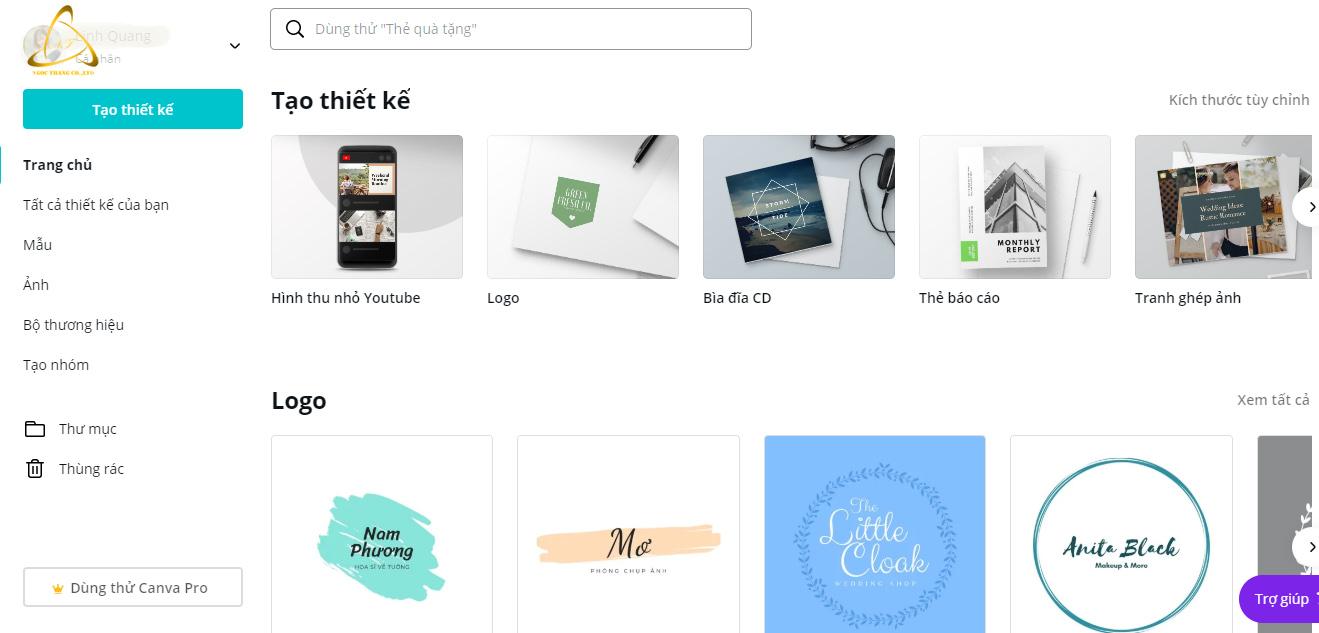 Thiết kế logo, baner online miễn phí