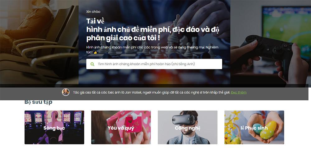 Website kho ảnh baner đẹp