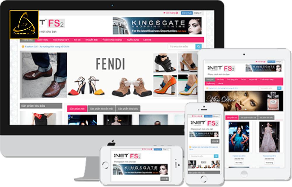 Ngọc Thắng thiết kế website bán lẻ trực tuyến
