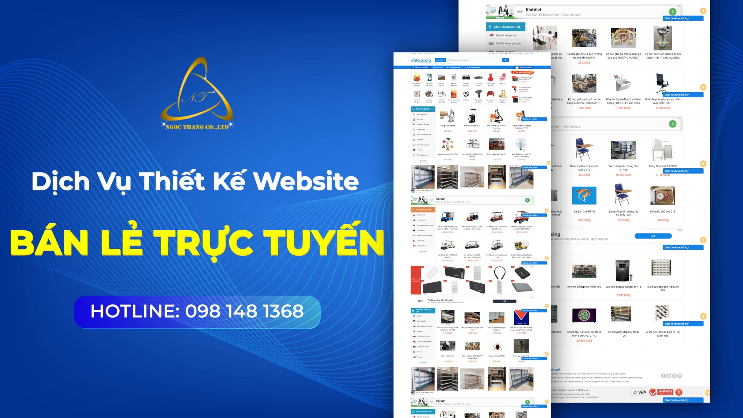 Thiết kế website bán lẻ trực tuyến