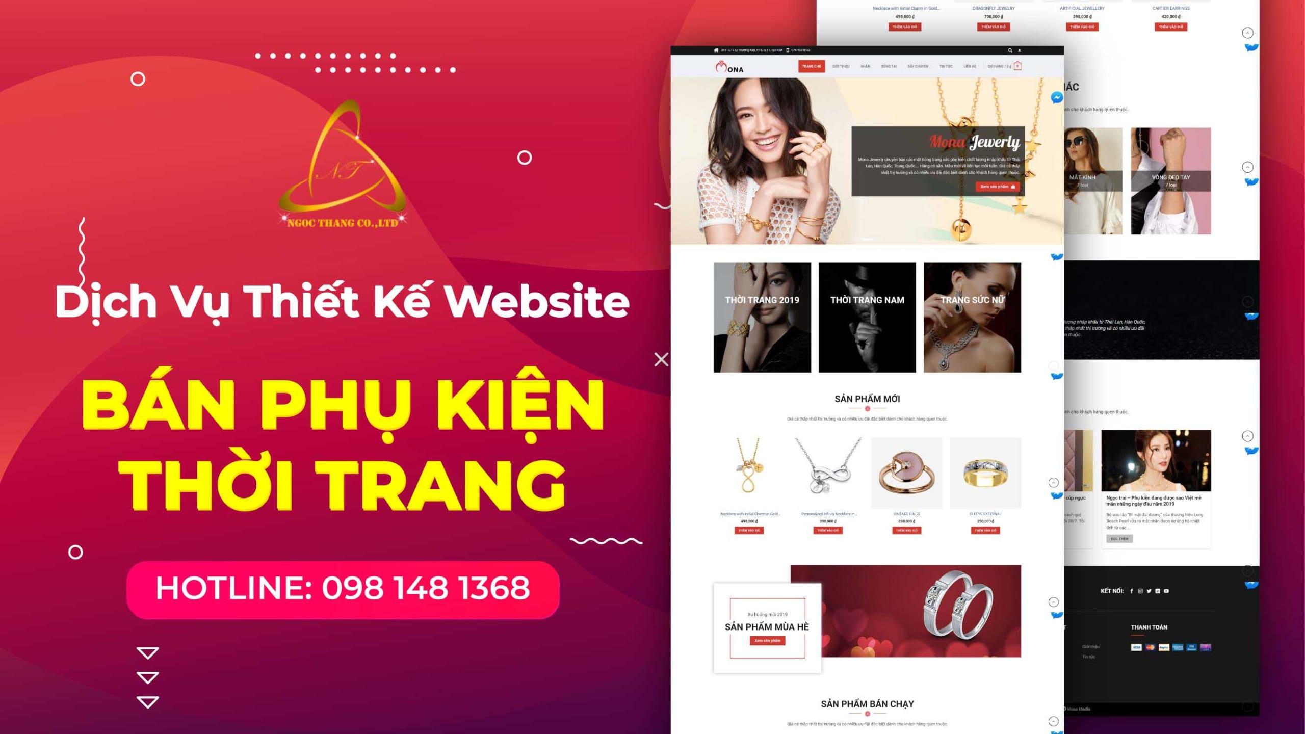 thiết kế website bán phụ kiện thời trang