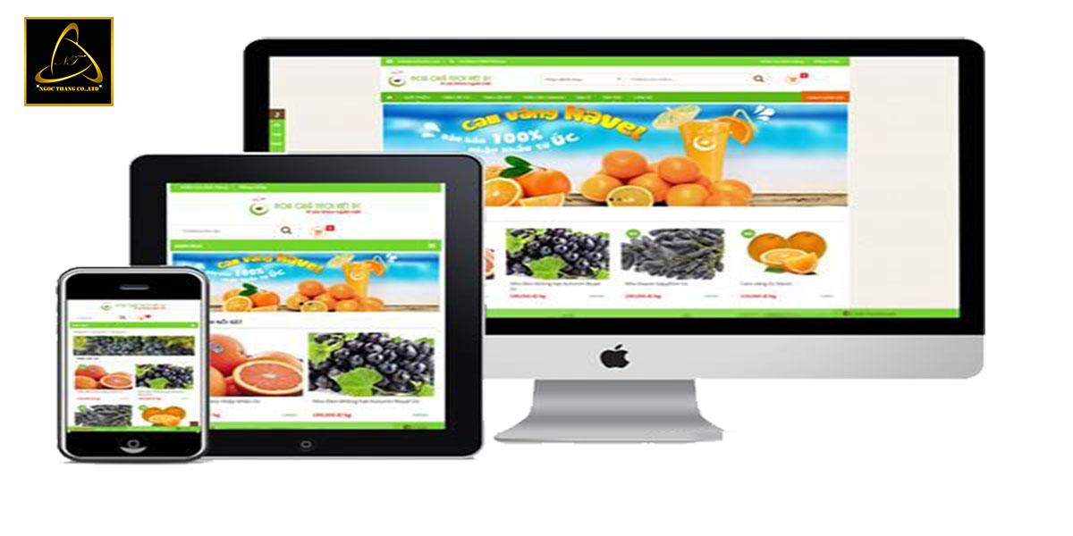 Cấu trúc thiết kế website bán hoa quả sạch