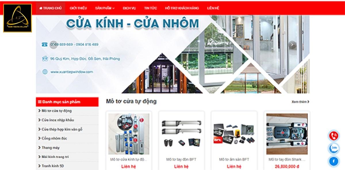 Lợi ích khi thiết kế website cửa nhôm kính