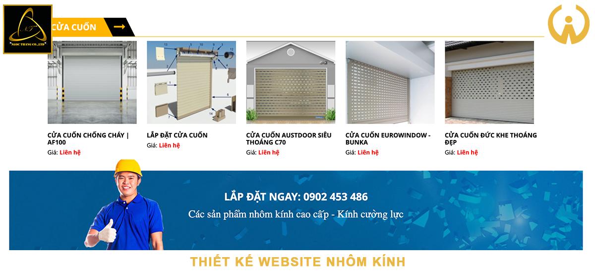 Lưu ý khi thiết kế website cửa nhôm kính