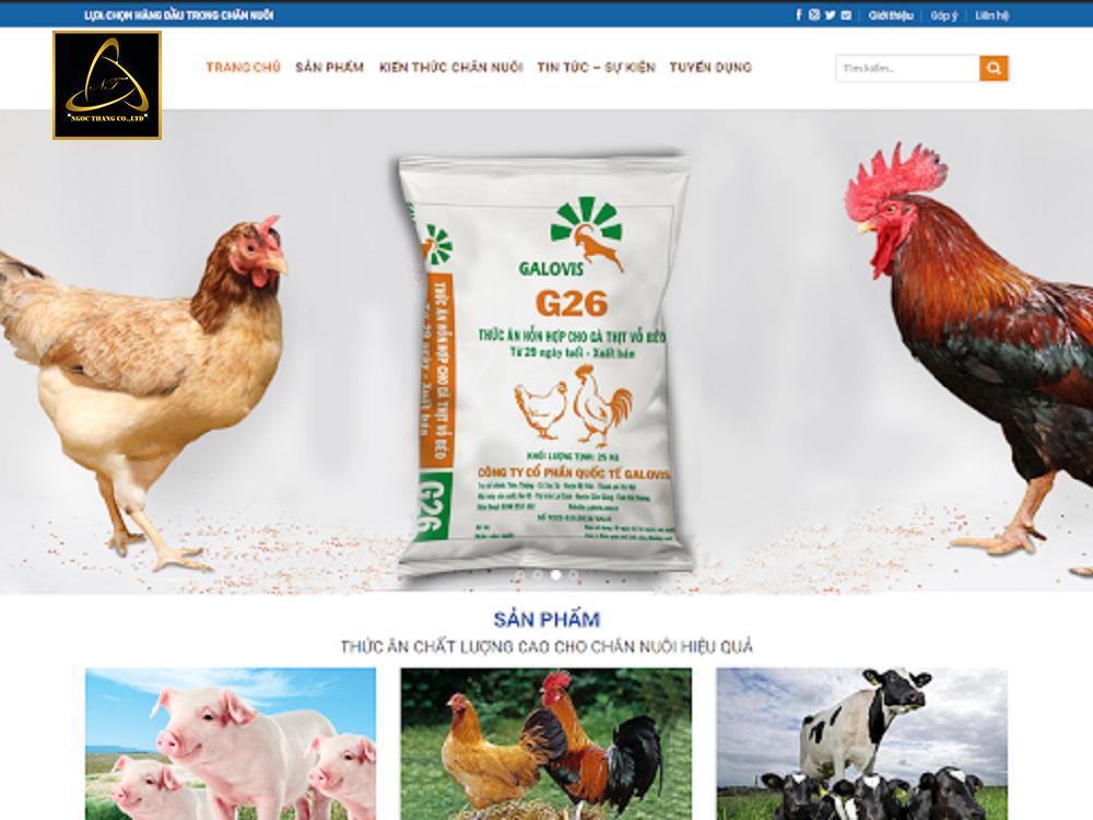 Lưu ý khi thiết kế website bán thức ăn chăn nuôi