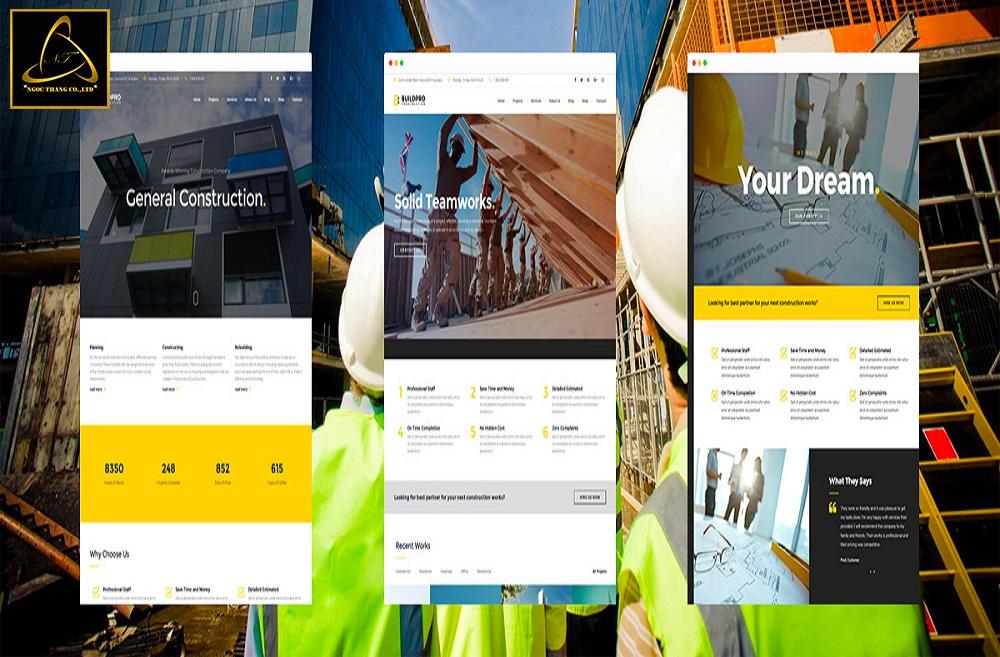 lưu ý khi thiết kế website công ty vật liệu xây dựng
