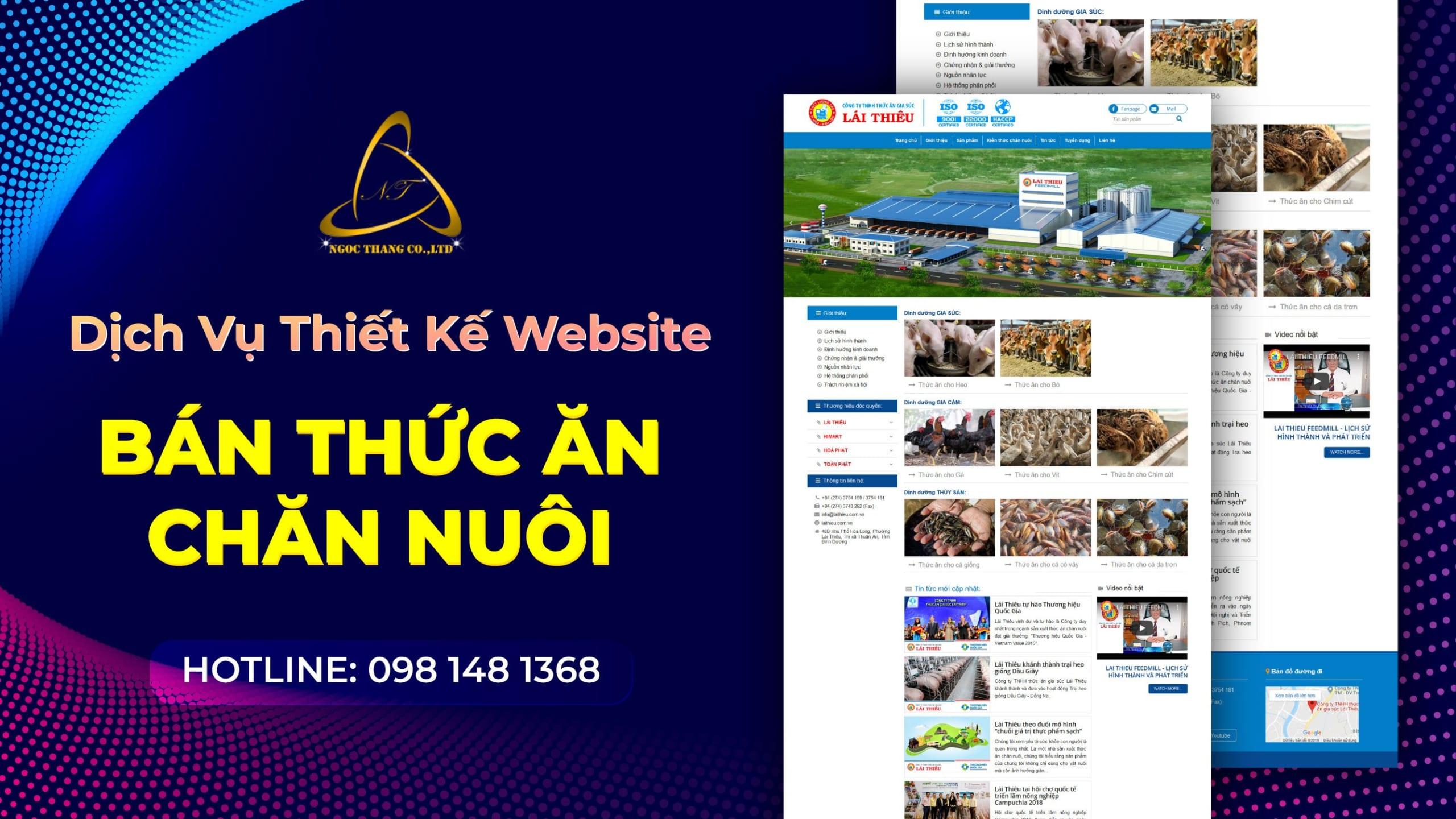 Thiết kế website bán thức ăn chăn nuôi