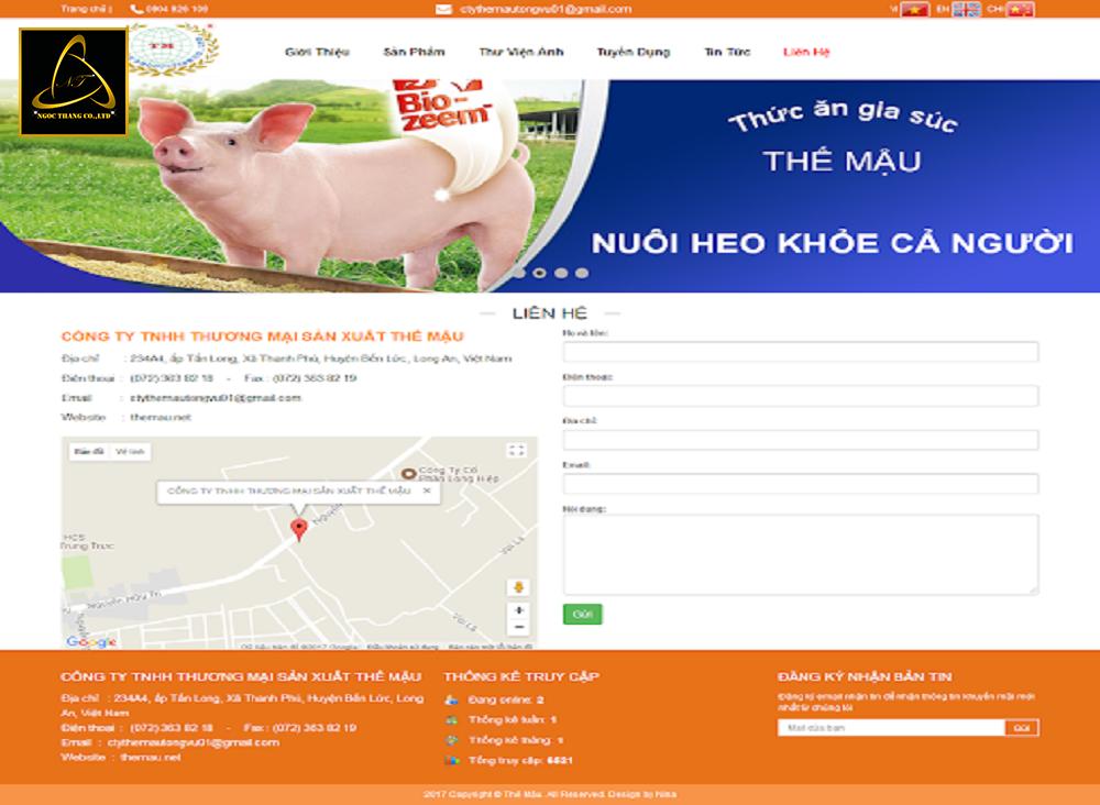 Thiết kế website bán thức ăn chăn nôi uy tín