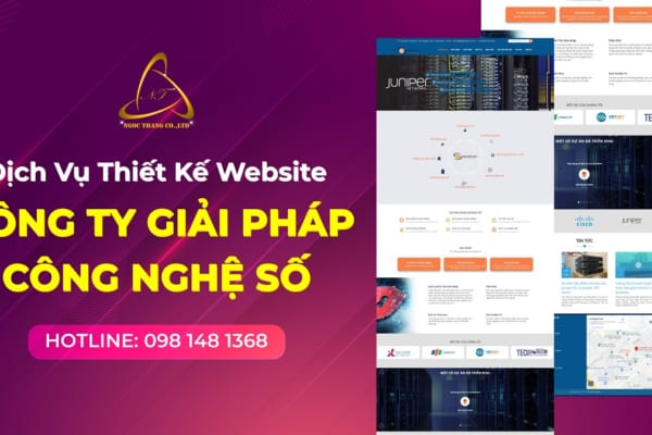 Thiết kế website công ty công nghệ số