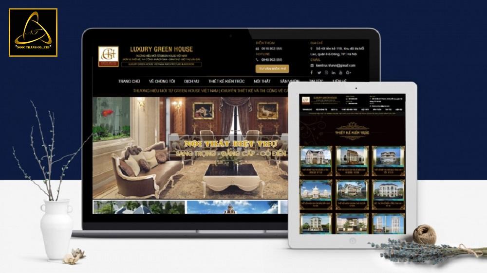 Thiết kế website công ty kiến trúc uy tín