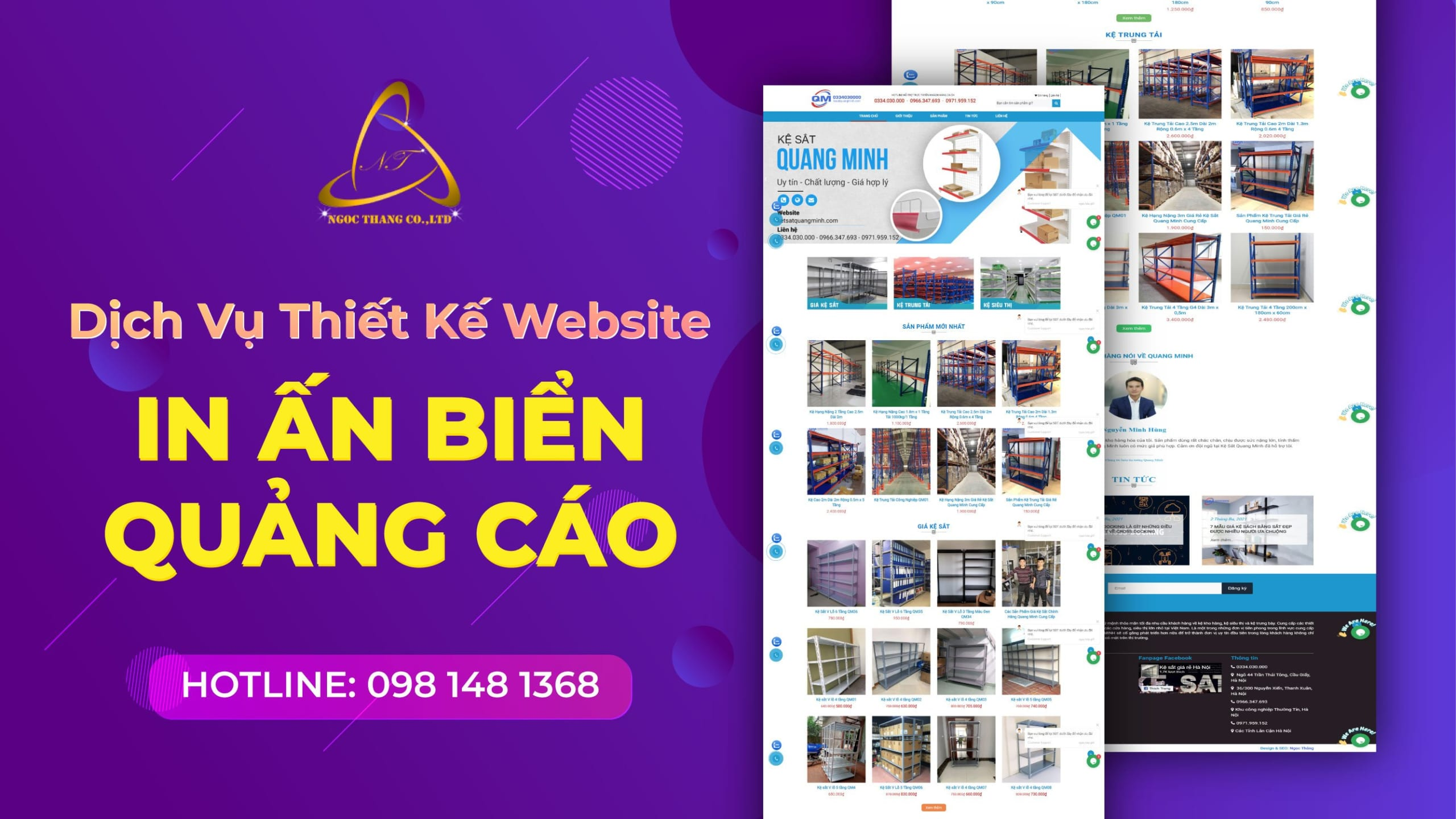 thiết kế website in ấn biển quảng cáo