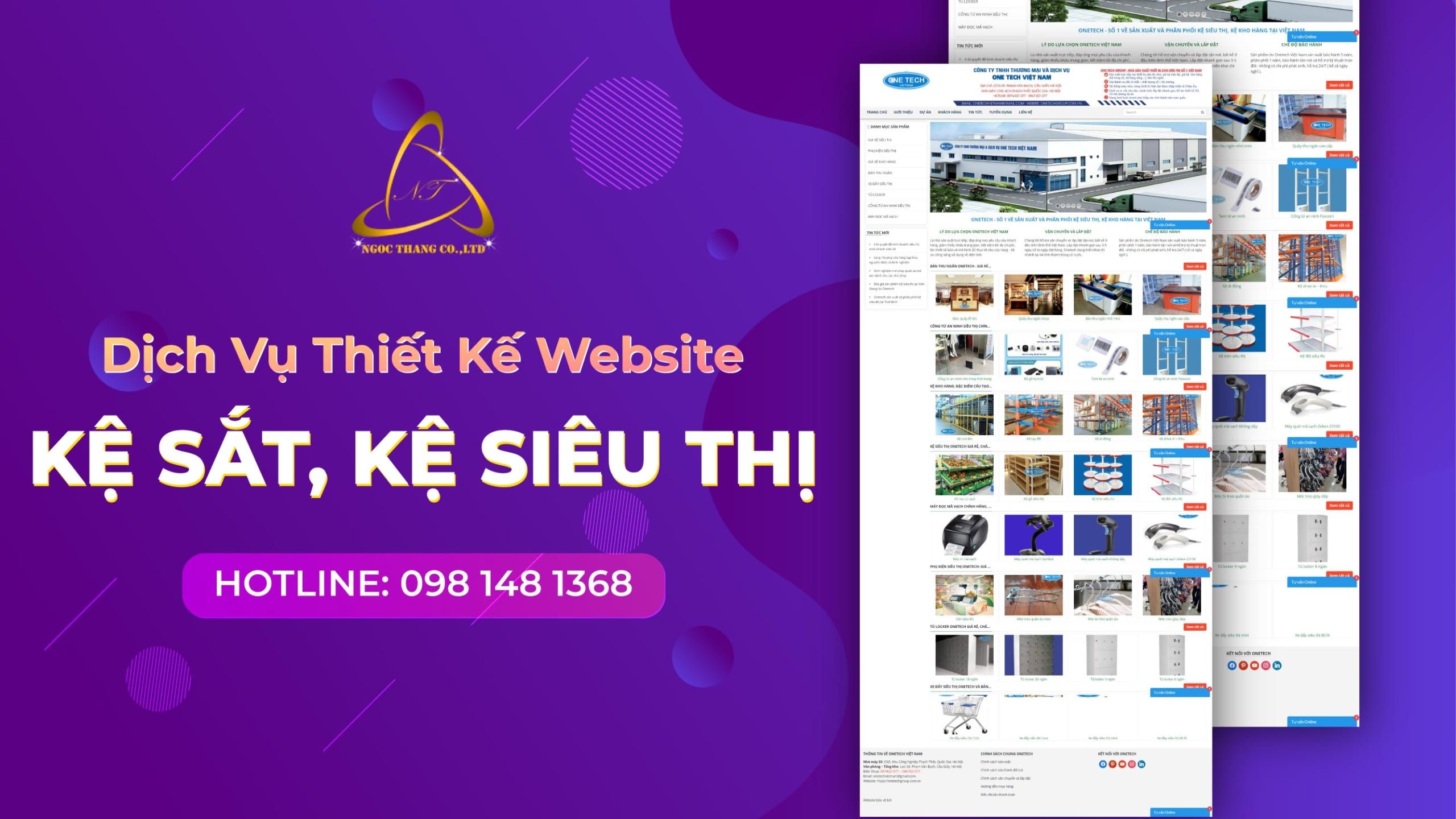 thiết kế website kệ sắt