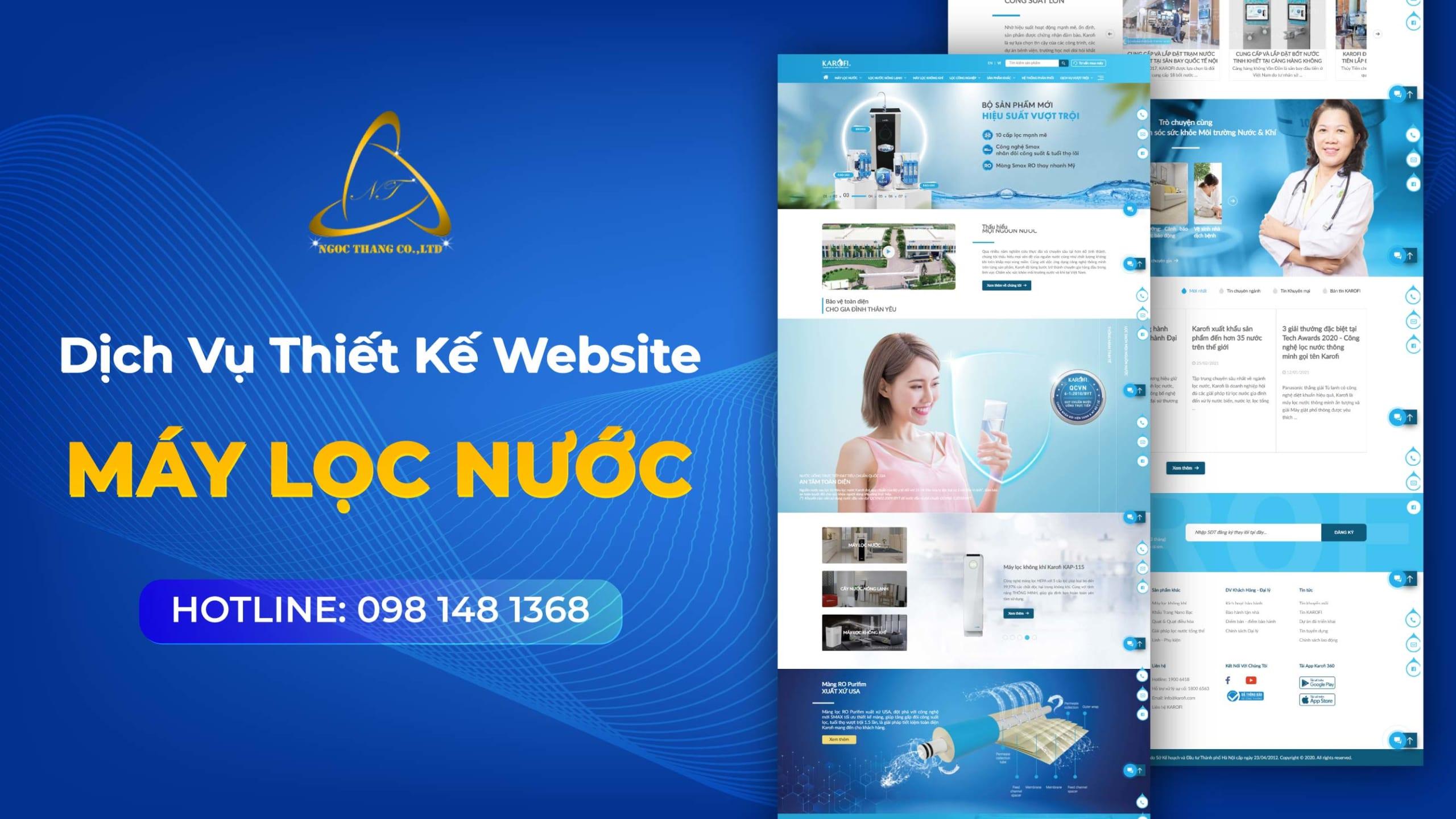 thiết kế website máy lọc nước