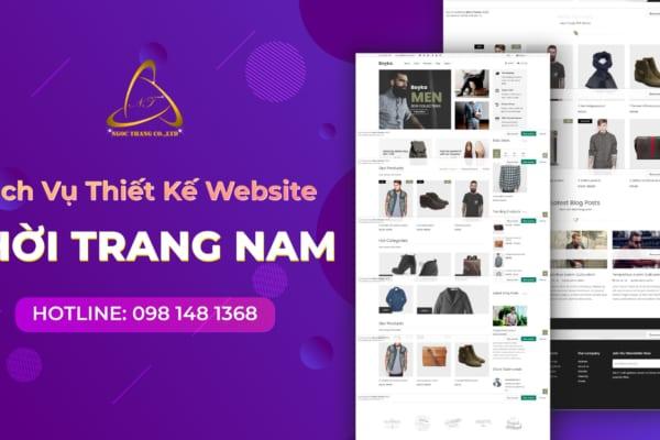 Website lĩnh vực thời trang nam