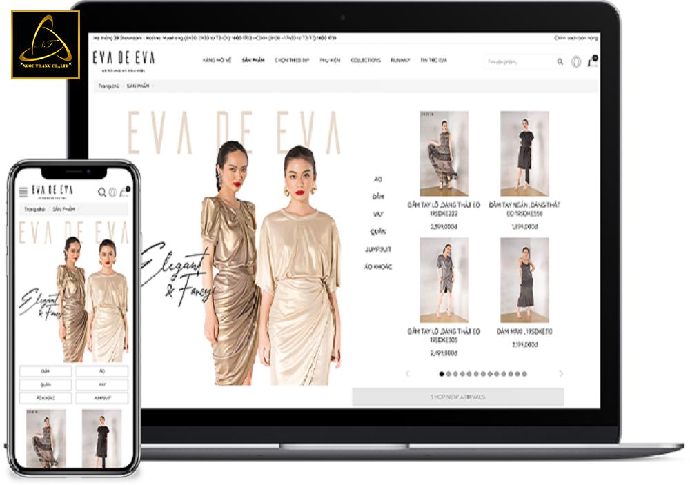 Thiết kế website bán lẻ trực tuyến chất lượng