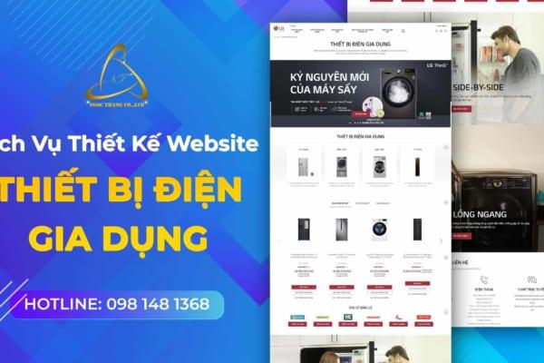 thiết kế website thiết bị điện gia dụng