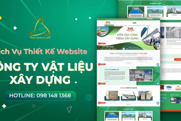 Thiết kế website công ty vật liệu xây dựng