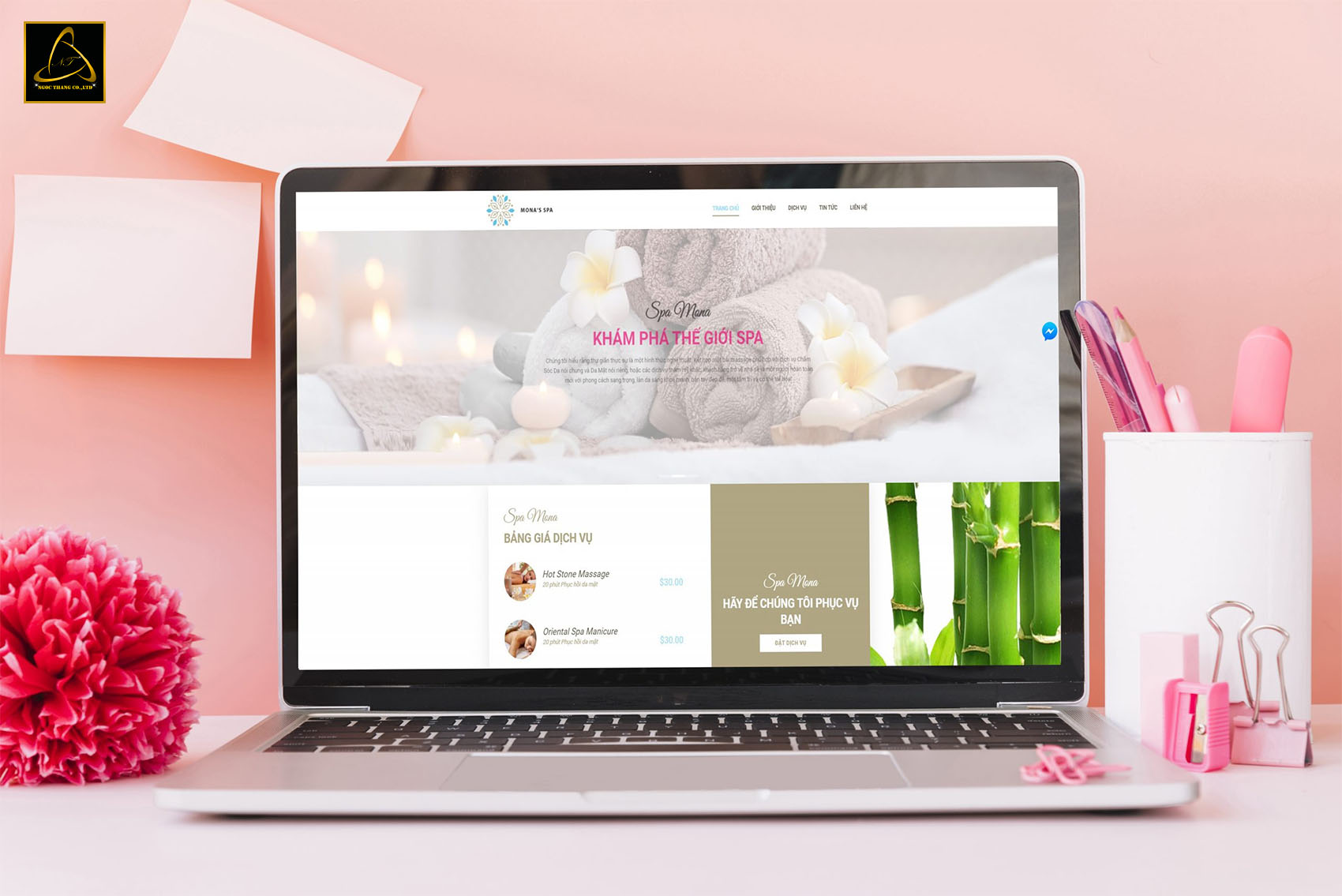 website dịch vụ massage