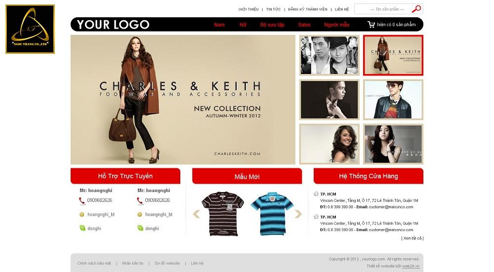 Chức năng thiết kế website thời trang trực tuyến