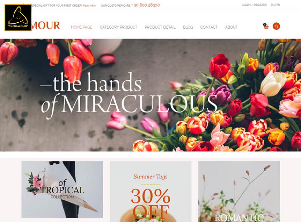 Địa chỉ thiết kế website bán hóa phong lan giá rẻ
