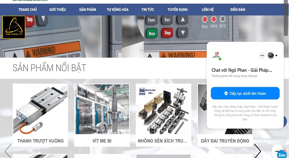 Lợi ích thiết kế website cơ khí máy móc