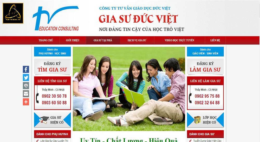 Lưu ý khi thiết kế website trung tâm gia sư