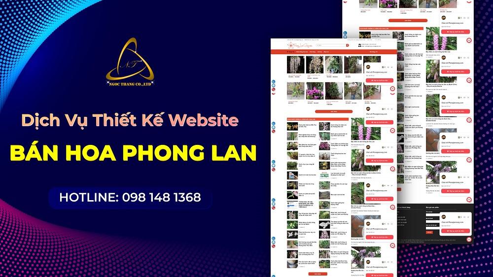 Thiết kế website bán hoa phong lan