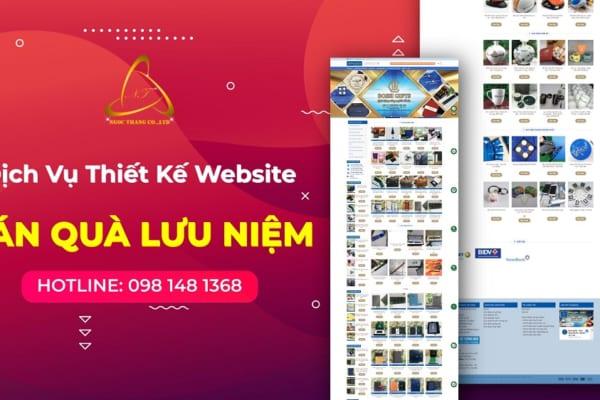 Thiết kế website bán quà lưu niệm