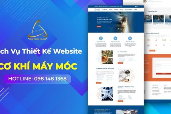 Thiết kế website cơ khí máy móc