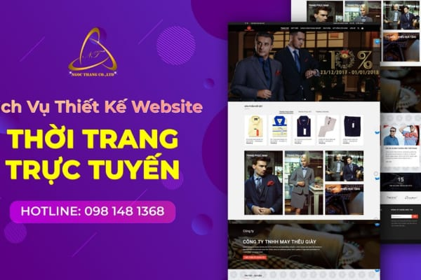 Thiết kế website thời trang trực tuyến