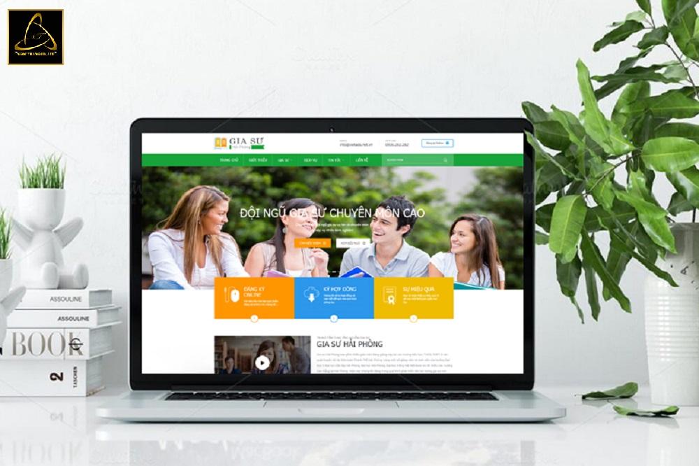 Ngọc Thắng thiết kế website trung tâm gia sư uy tín